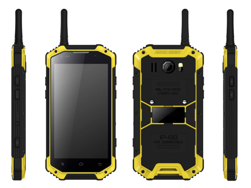 4.7inch Quad Core IP68 Phone rugged smartphone with PTT walkie-talkie phone