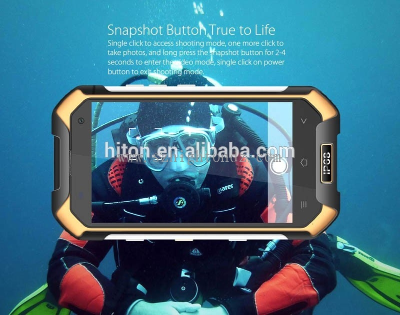 Waterproof Shockproof Smartphone 4G LTE Android Phone 6.0 NFC PTT Rugged Phone MT6755 Octa Core